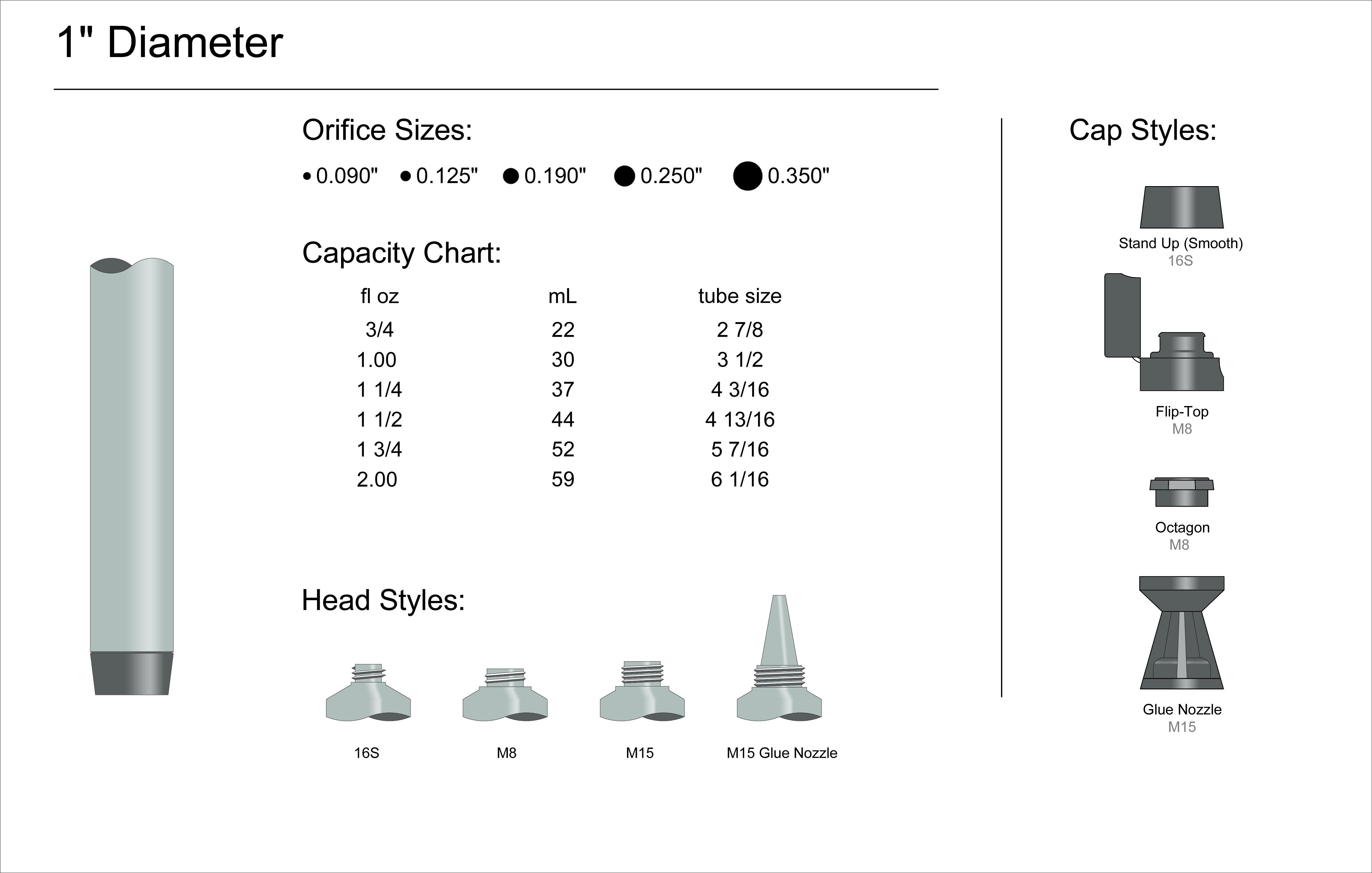 """1"""" Diameter Spec"""