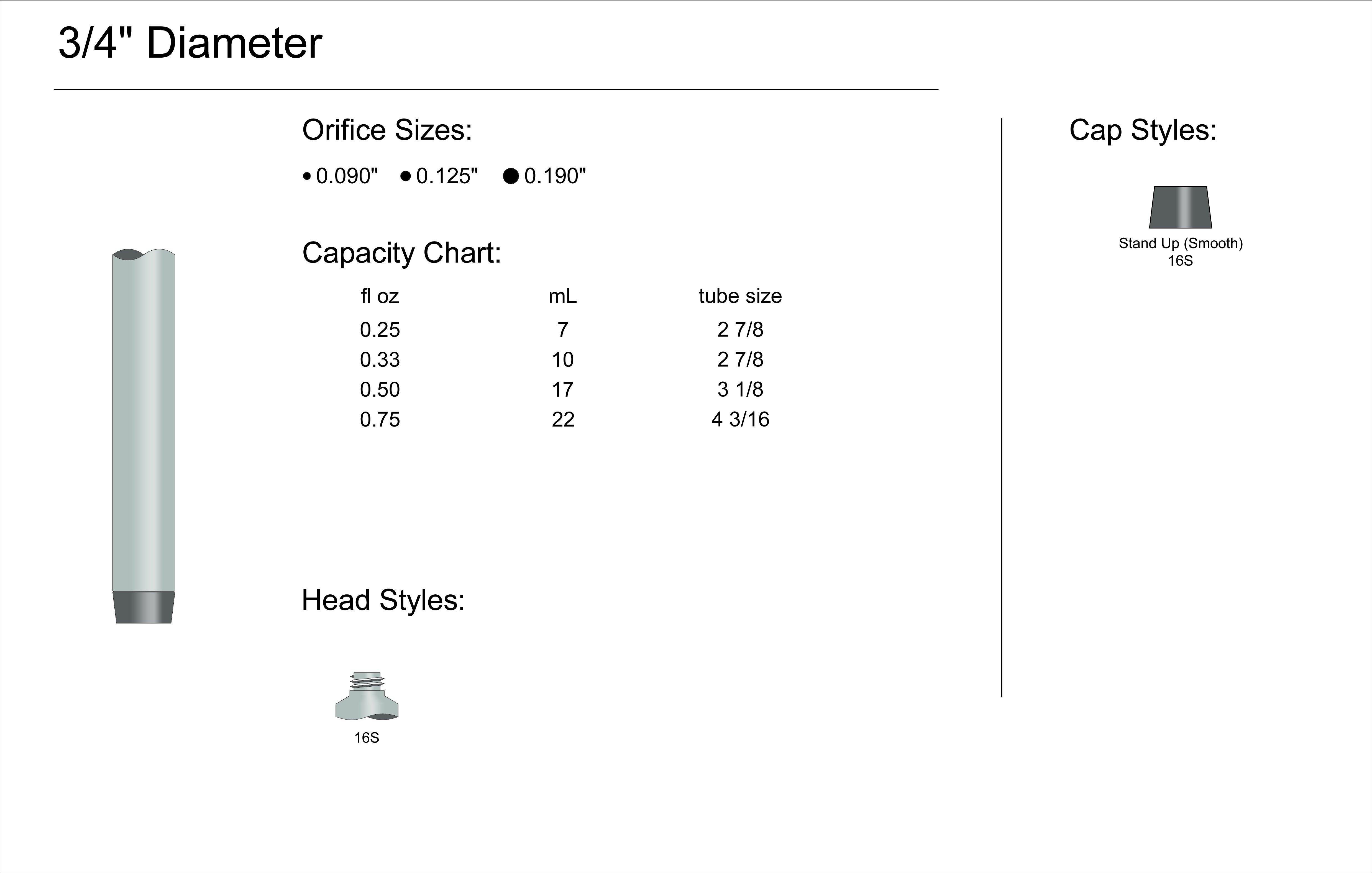 """3/4"""" Diameter Spec"""