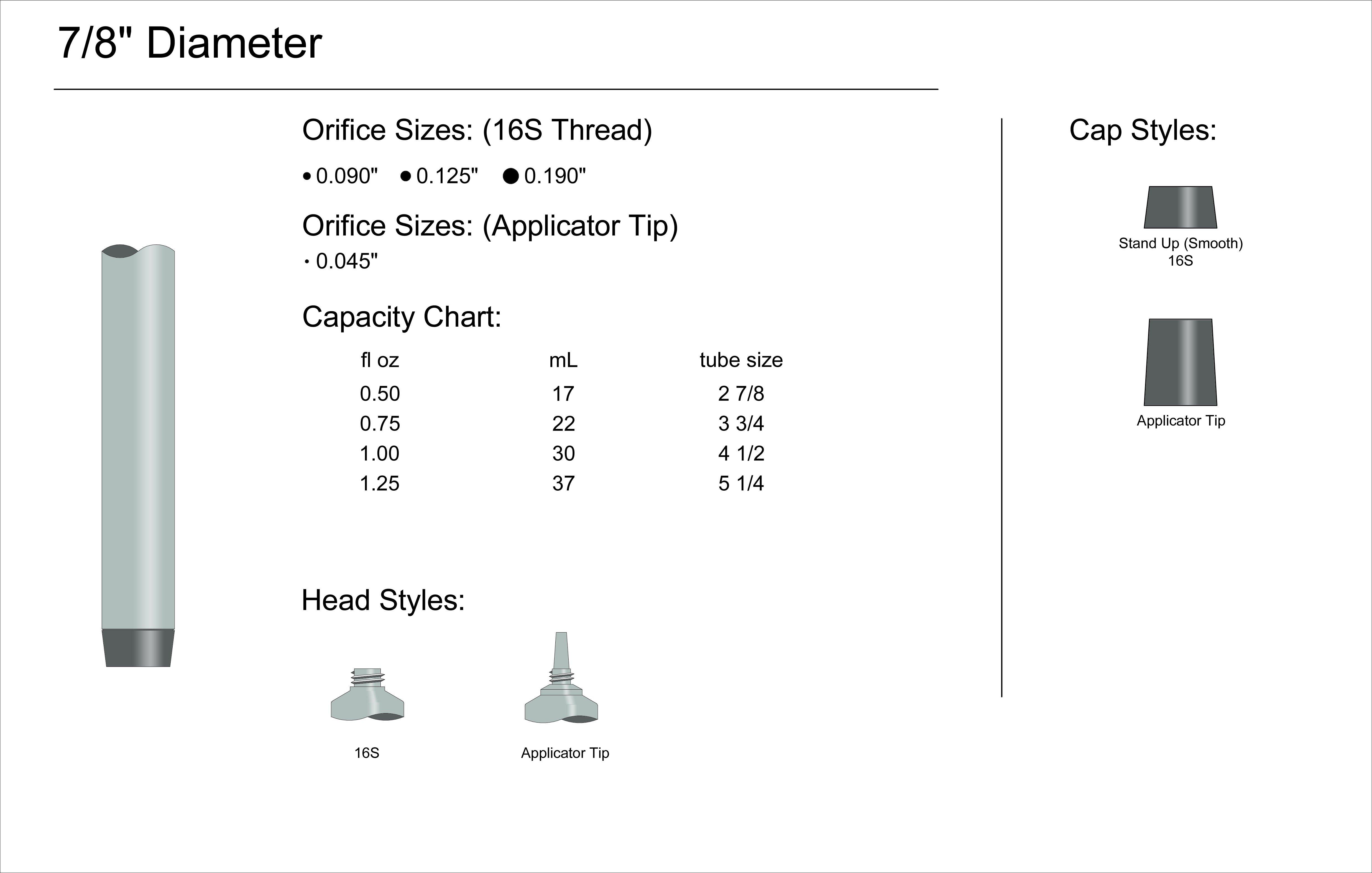 """7/8"""" Diameter Spec"""